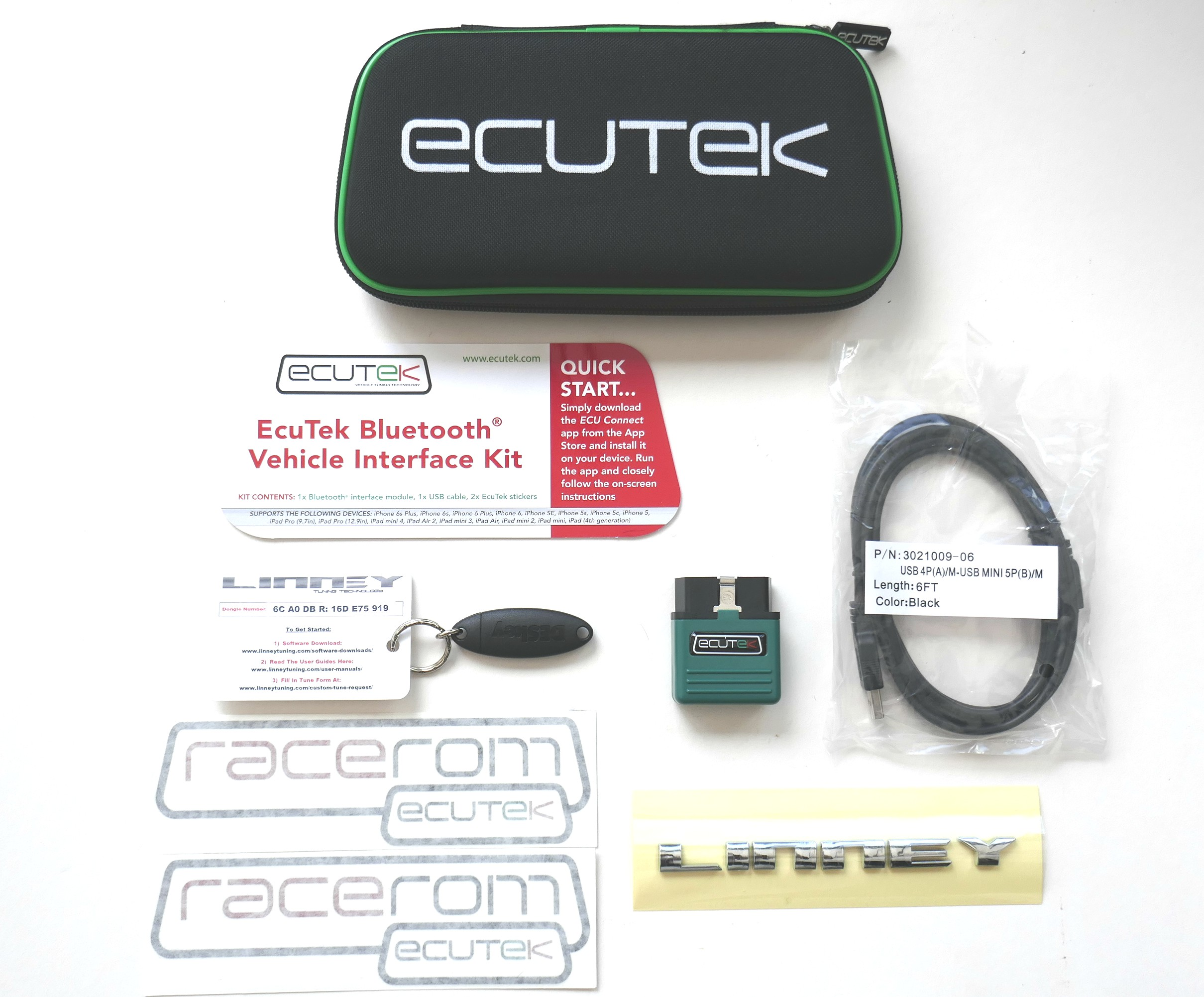 EcuTek Bluetooth Vehicle Interface kit + Dongle Key + 2 Licences